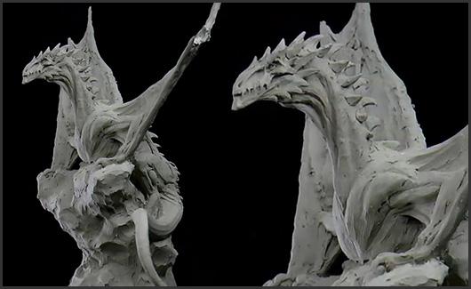 Modelagem de Dragão - Você irá aprender a passar para o nível avançado, atingindo um nível mais elevado de escultura