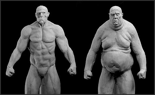 Biotipos e Gesturing(pose) - Iremos estudar biotipos(forte e gordo) mostrando a diferença entre eles e gesturing(corpo em movimento).