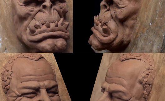 Escultura tradicional - Também farei alguns estudos em escultura tradicional, visando melhorar o olhar artístico.